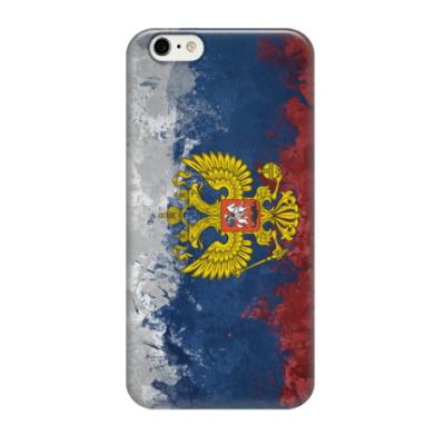 Чехол для iPhone 6/6s Флаг и Герб России