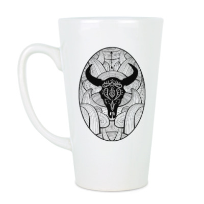 Чашка Латте Мексиканский череп быка