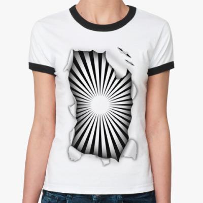 Женская футболка Ringer-T Гипноз