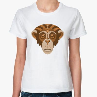 Классическая футболка Год обезьяны