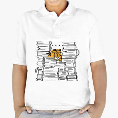 Детская рубашка поло Гарфилд в книгах