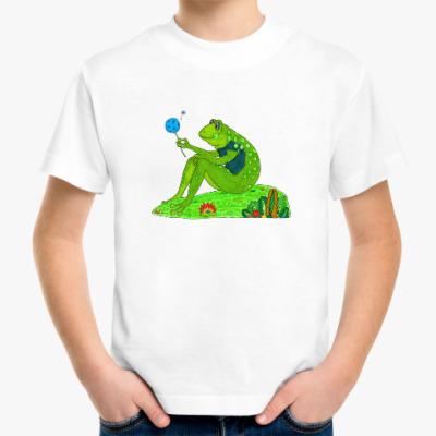 Детская футболка Лягушка-Мечтатель