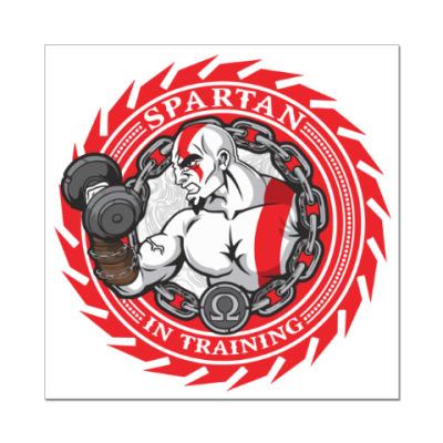 Наклейка (стикер) Спартанцы тренируются