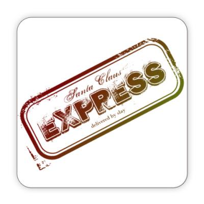 Костер (подставка под кружку) Санта Экспресс