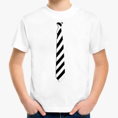 Детская футболка Детская`Галстук в косую ч/б`