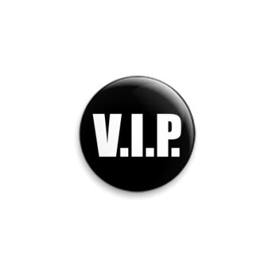Значок 25мм  VIP