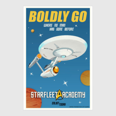 Постер Star Trek Boldly Go