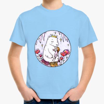 Детская футболка Полярный медведь и девочка
