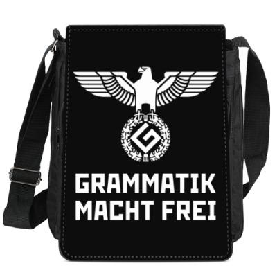 Сумка-планшет Grammatik macht frei (black)