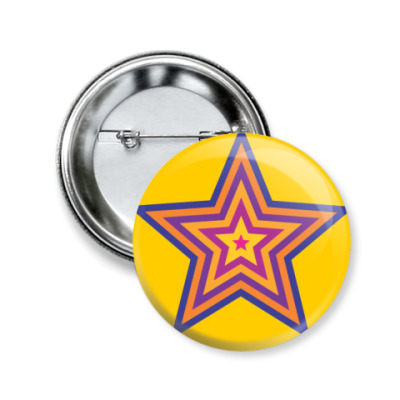 Значок 50мм  Star
