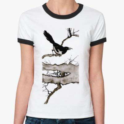 Женская футболка Ringer-T  Ворона