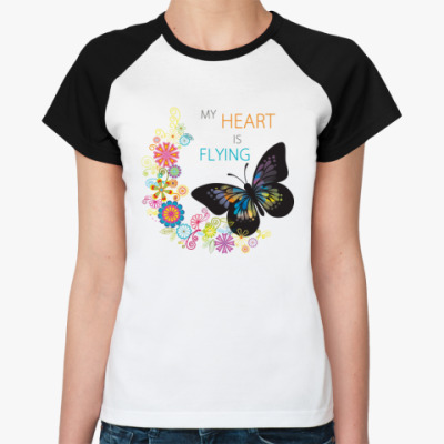 Женская футболка реглан Is Flying