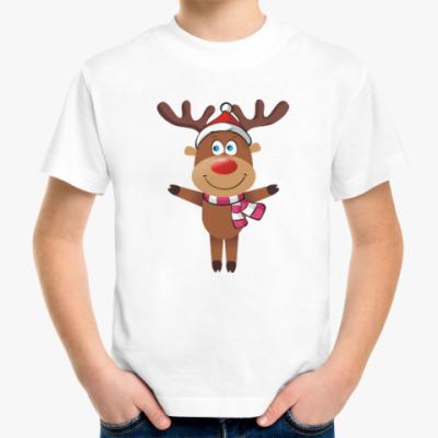 Детская футболка Олени. Рождество. Новый год.