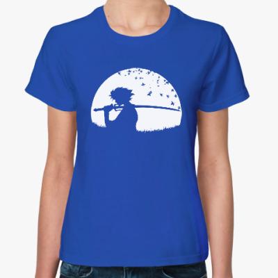 Женская футболка Самурай
