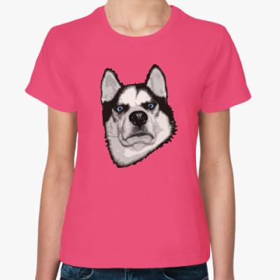 Женская футболка Суровый Хаски