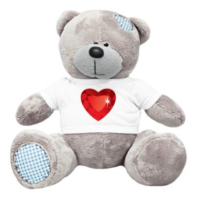 Плюшевый мишка Тедди Сердце-Бриллиант