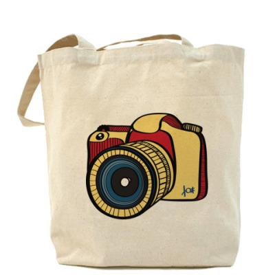 Сумка Холщовая сумка Фото (красн.)