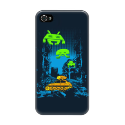 Чехол для iPhone 4/4s Space Invaders