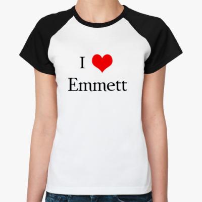 Женская футболка реглан  love Emmett