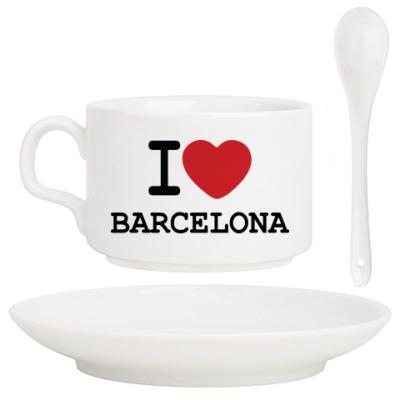 Кофейный набор I Love Barcelona