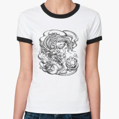 Женская футболка Ringer-T Дракон