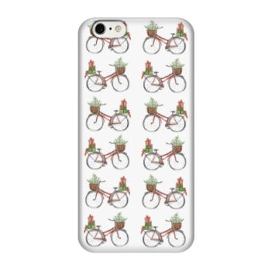 Чехол для iPhone 6/6s Паттерн из рождественских велосипедов