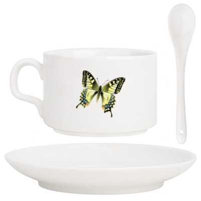 Кофейный набор Золотистая бабочка