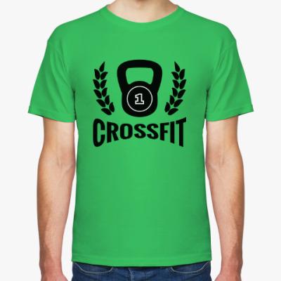 Футболка Кроссфит логотип с гирей