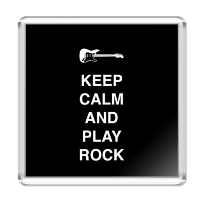Магнит Keep calm and play rock