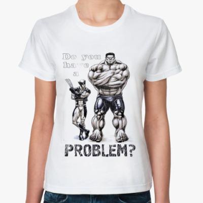 Классическая футболка Problem? MARVEL