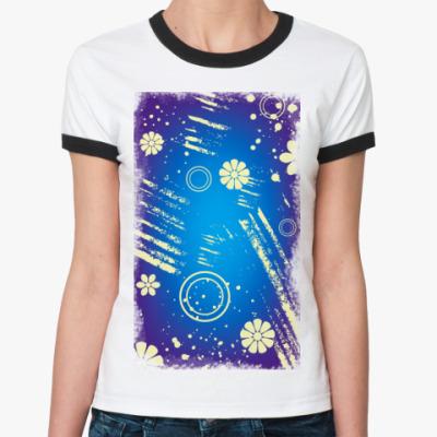 Женская футболка Ringer-T абстракция