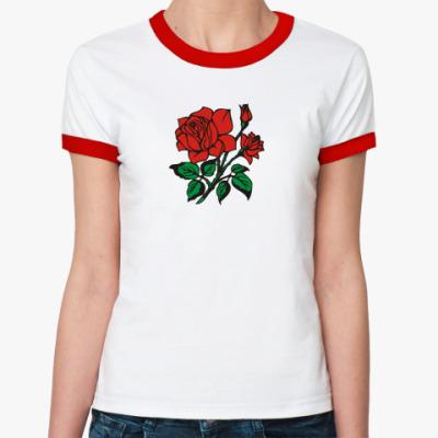 Женская футболка Ringer-T Для Любимой!