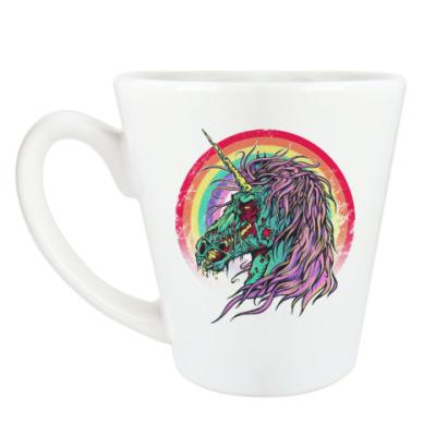 Чашка Латте Зомби единорог