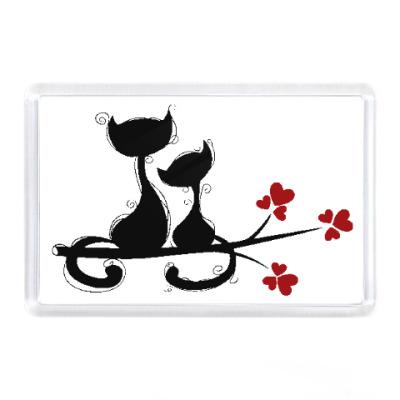 Магнит Любовь и кошки