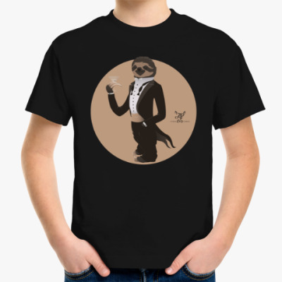 Детская футболка Animal Fashion: S is for Sloth in Smoking
