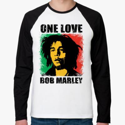 Футболка реглан с длинным рукавом  'Bob Marley'