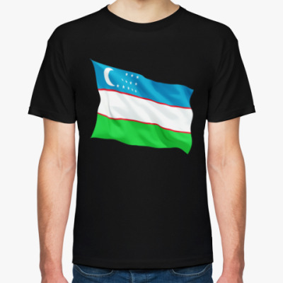 Футболка футболка флаг Узбекистана