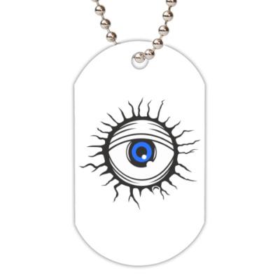 Жетон dog-tag Демонический глаз.