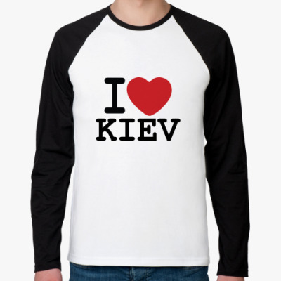 Футболка реглан с длинным рукавом I Love Kiev