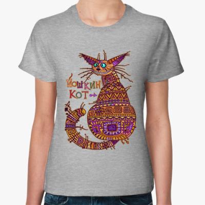 Женская футболка йошкин кот