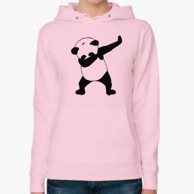 Женская толстовка худи Даб панда