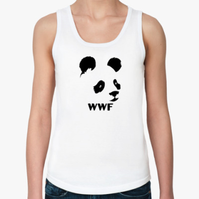 Женская майка WWF. Альтер - Панда с лого