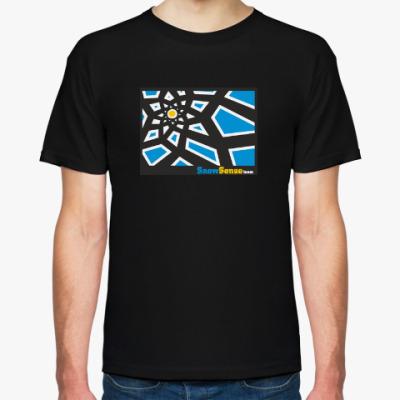 Футболка Мужская футболка с черным солнцем (разные цвета)