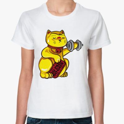 Классическая футболка Манэки-Нэко (Кот Счастья)