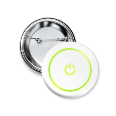 Значок 37мм  Power Button X360