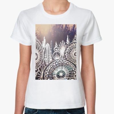 Классическая футболка Вечерний лес