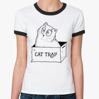 Женская футболка Ringer-T Ловушка для кота