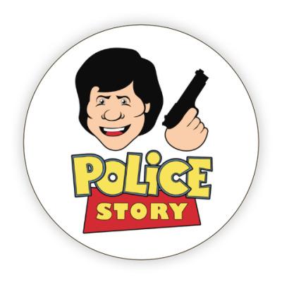 Костер (подставка под кружку) Police story