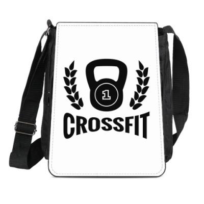 Сумка-планшет Кроссфит логотип с гирей