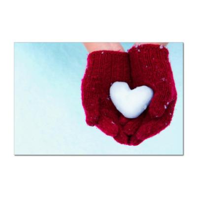 Наклейка (стикер) Сердце в ладошках